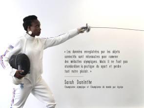 sarah daninthe à l'émission arte futuremag sur le sport connecté