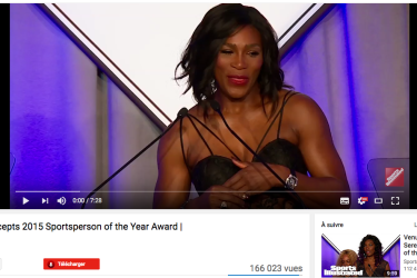 Serena Williams Accepts 2015 Sportsperson of the Year Award | Sports Illustrated